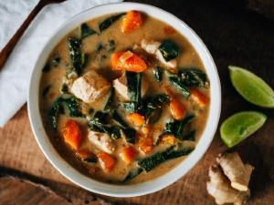 Almond Chicken Soup Healthy Recipe