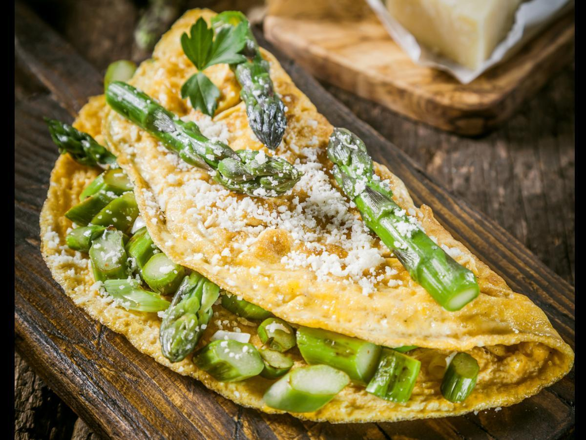 Asparagus Omelet Healthy Recipe