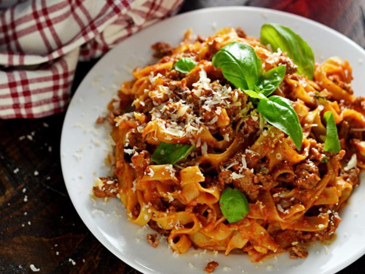 One Pot Pasta Bolognese Healthy Recipe