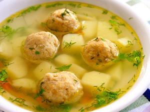 Russian Potato Soup with Meatballs Healthy Recipe