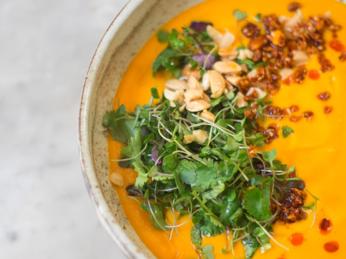 Simple Carrot Soup Healthy Recipe