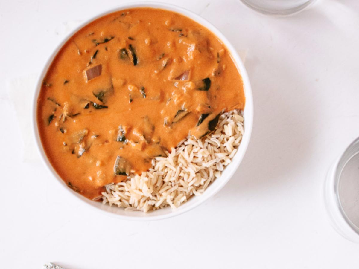 Vegetarian West African Peanut Soup Healthy Recipe